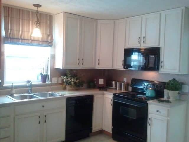 Cabinets done...now onto the backsplash.  What to do that looks nice...but inexpensive?
