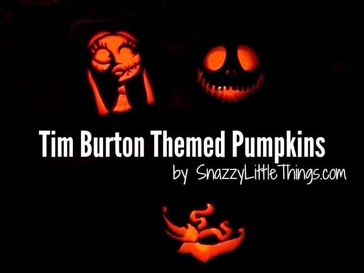 tim burton pumpkin carvings