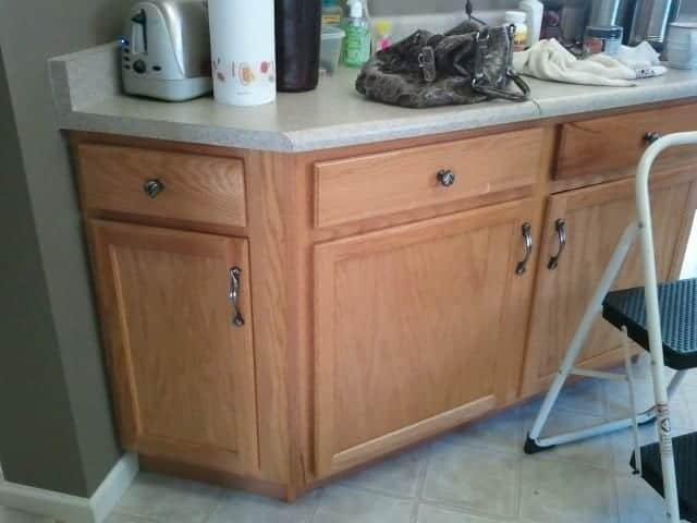 Before: Kitchen island=junk collector