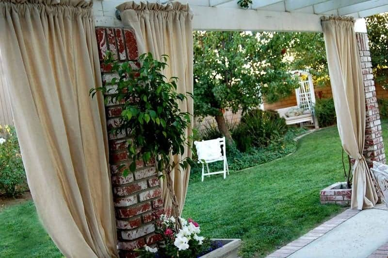 Diy Patio Curtains From Drop Cloths With No Sewing Tered