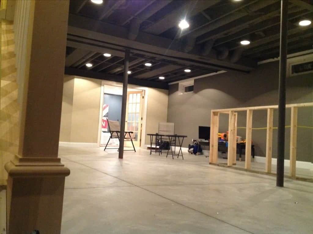 industrial basement decor
