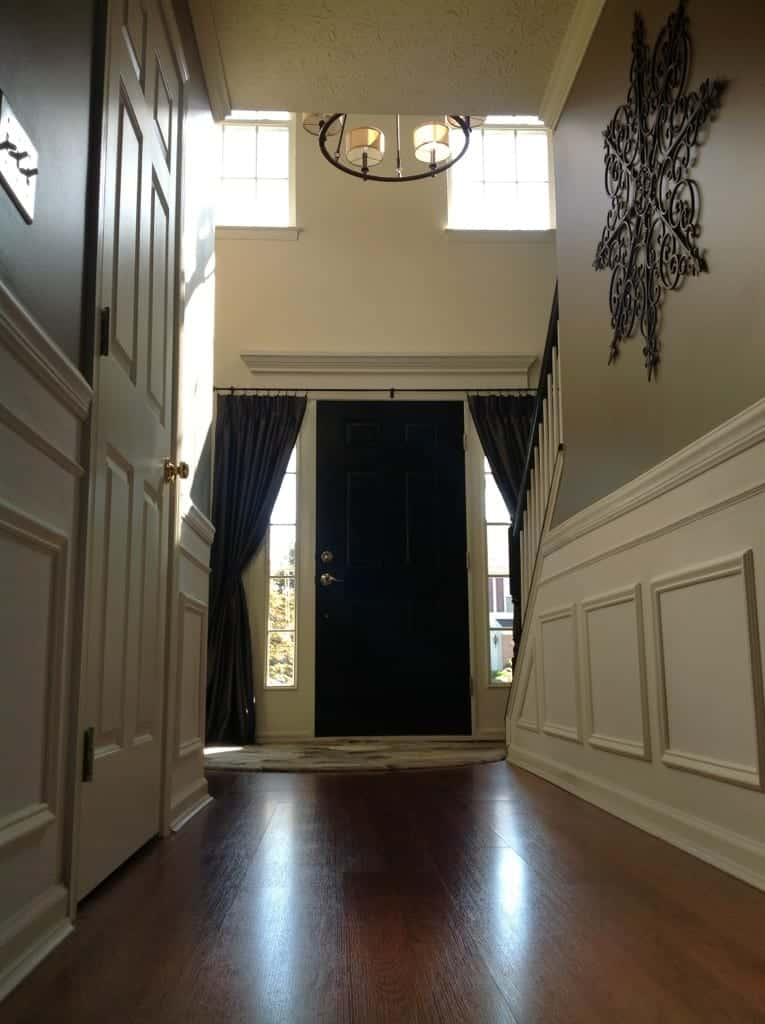 Story Foyer Window Curtains : Two story foyer upgrade large crown molding snazzy