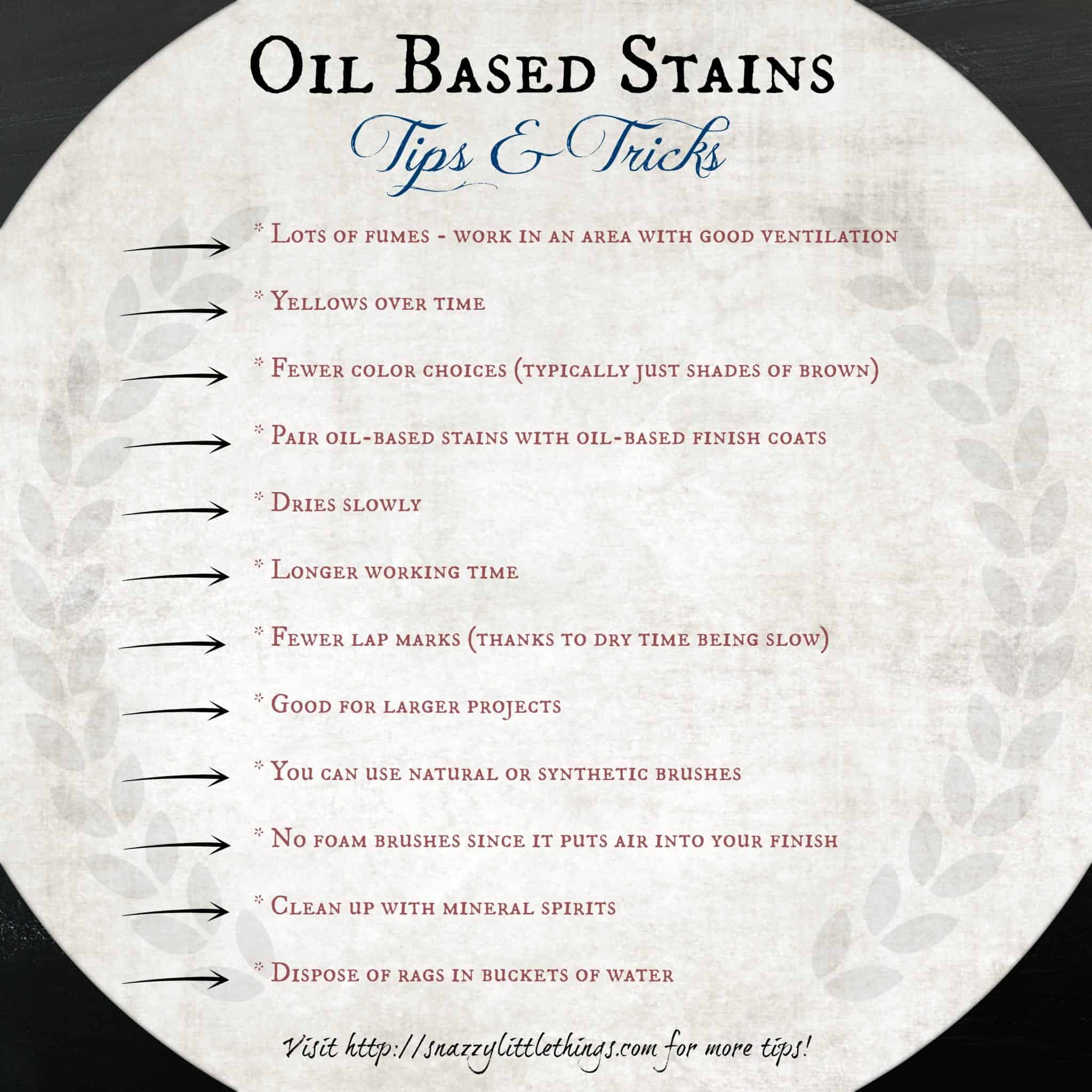Oil Based Stain Tips Tricks Snazzy Little Things
