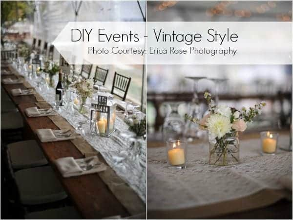 Photos that inspire. Vintage-themed event planning.