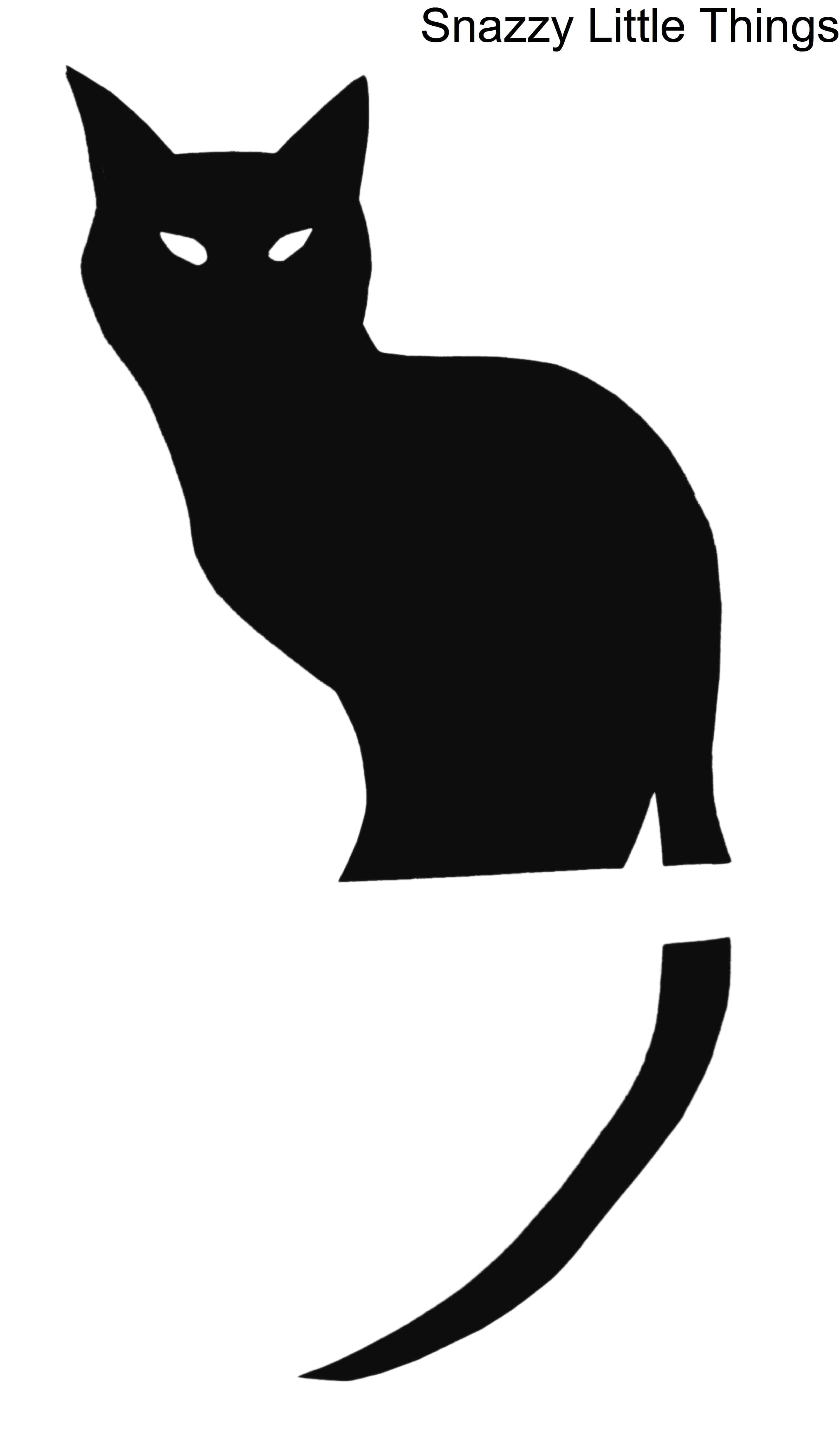 black cat templates for halloween - free downloads halloween window silhouettes snazzy