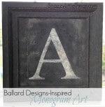 Ballard Designs-Inspired Monogram Art