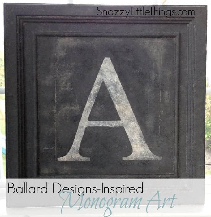 ballard design knockoff initial monogram art