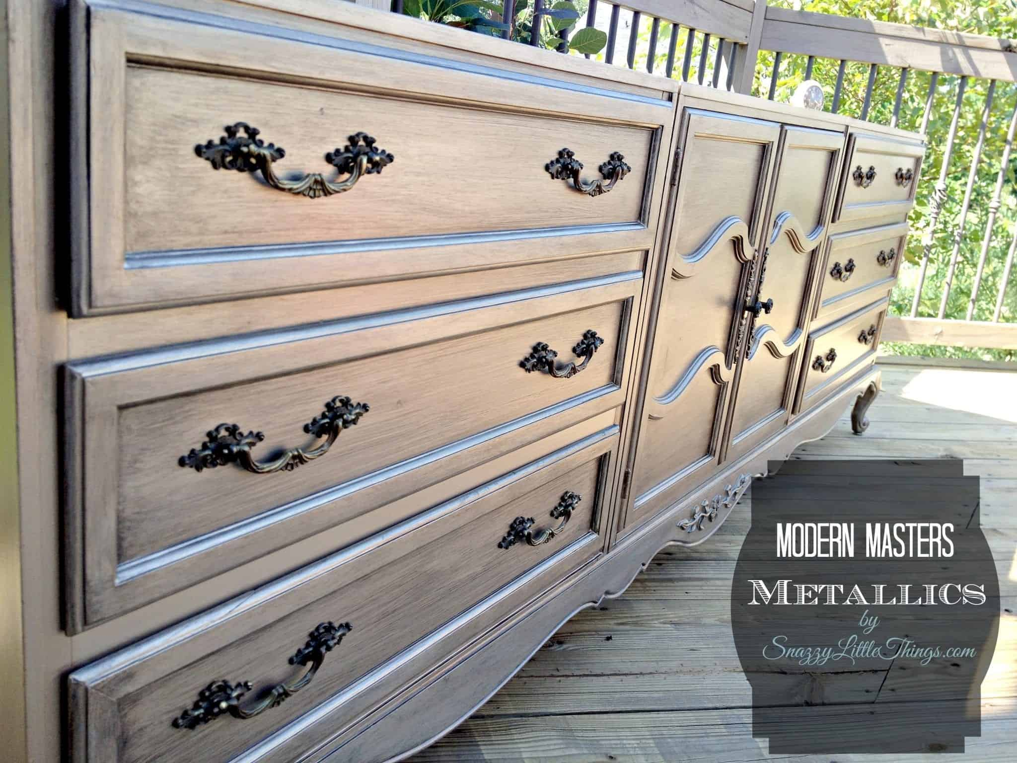 Furniture Legs Masters diy furniture project using modern masters metallic paint