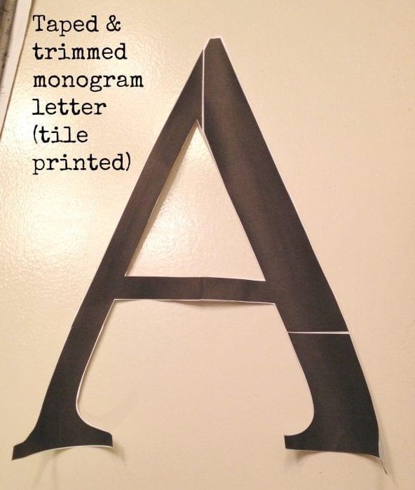 taped monogram letter