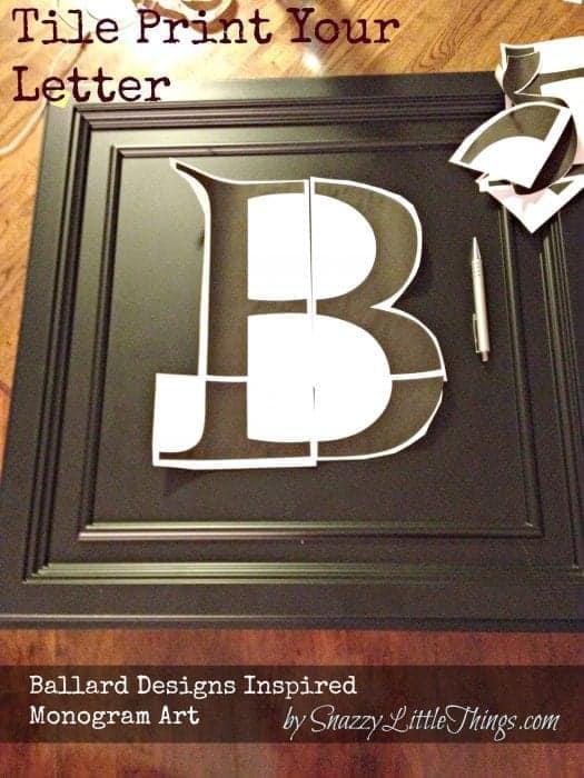 tile printed B