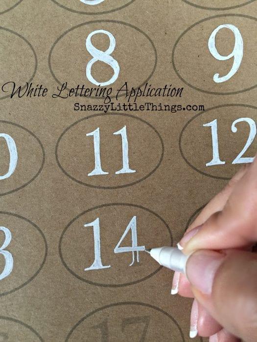 White Lettering Application